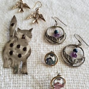 Birds, Fish and a Kitty Cat Jewelry